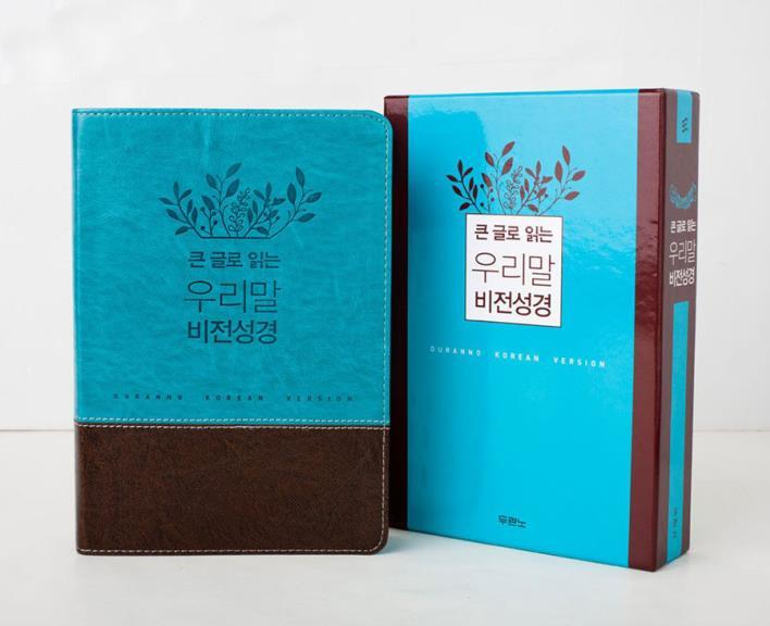 큰글우리말비전성경(중/단본/색인)-파란색