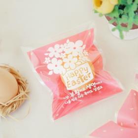 히스엠2000-부활절달걀1구포장비닐(25매)_Happy Easter(핑크)