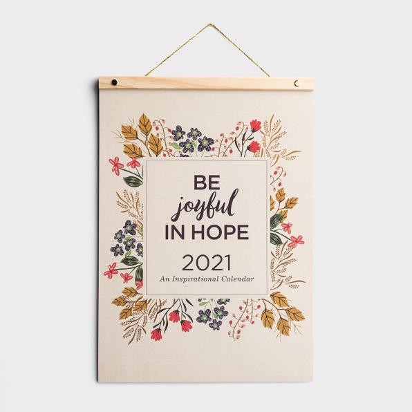 BE JOYFUL IN HOPE - 2021 WOOD STRIP WALL CALENDAR