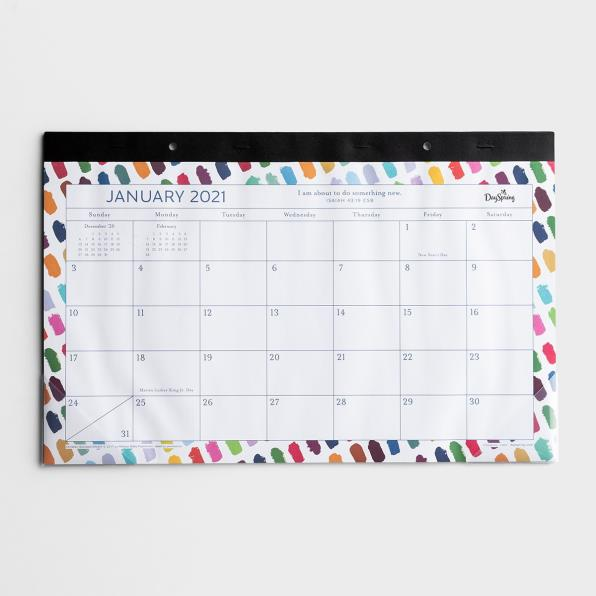 COLORFUL BRUSHSTROKE - 2021 DESKPAD CALENDAR